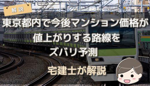 【宅建士が解説】 東京都内で今後マンション価格が値上がりする路線をズバリ予測